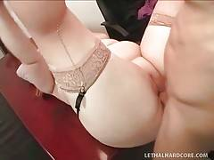 Slutty Blond Fattie Enjoys Big Black Cock 3