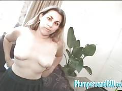 Brown haired Blossom wraps her tight shaved pussy around a hard cock and takes it for a ride!