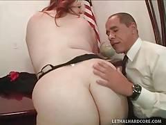 Slutty Blond Fattie Enjoys Big Black Cock 1
