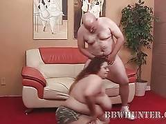 Huge redhead titted fattie warms guy up with great oral.