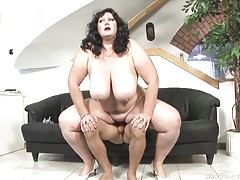 Andrea starts things off with her toy, and gets a nice pounding by a real cock