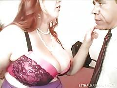 Mr. President wants to help awesome blond BBW in her program.