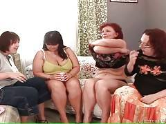 Four Chubby Ladies Free Their Lust 2